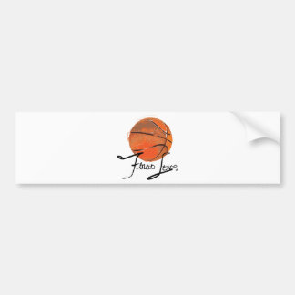 First Love: Basketball Bumper Sticker