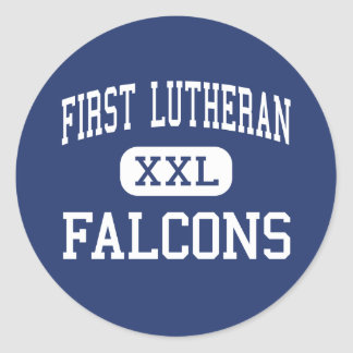 First Lutheran - Falcons - High - Sylmar Classic Round Sticker