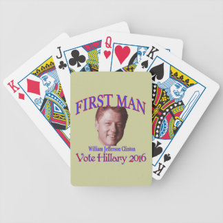 First Man Bicycle Playing Cards