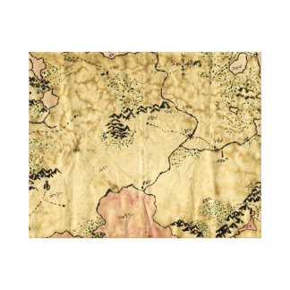 First Map of the Forgotten Realm Canvas Print