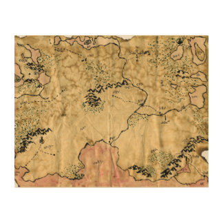First Map of the Forgotten Realm Wood Print