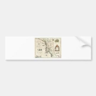 First Map to Show Manhattan Car Bumper Sticker