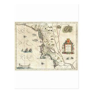 First Map to Show Manhattan Postcard