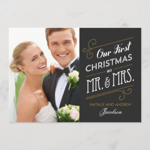 holiday wedding announcements newlywed christmas cards zazzle