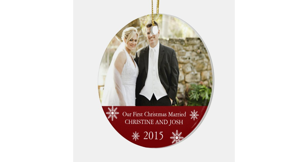 Our First Christmas Married Ornament