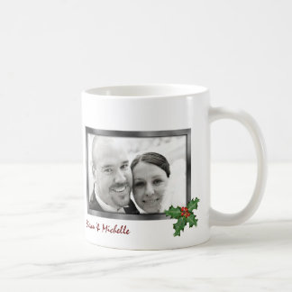 First Married Christmas Photo Mug