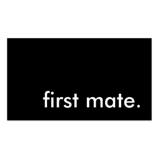 first mate. Double-Sided standard business cards (Pack of 100)