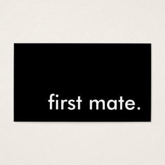 first mate. business card