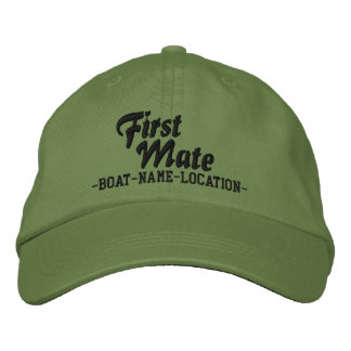 FIRST MATE Customizable Boat Name Your Name Embroidered Hat