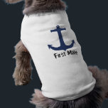 """&quot;First Mate&quot; Cute Dog Sweater Shirt<br><div class=""""desc"""">&quot;First Mate&quot; Cute Dog Sweater,  by designer Brad Hines.</div>"""
