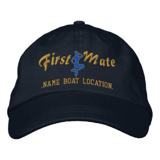 First Mate Mermaid Cap Personalize it! Embroidered Hat