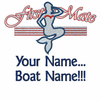 First Mate Mermaid Personalize it! Embroidered Hooded Sweatshirts