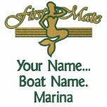 First Mate Mermaid Personalize it! Embroidered Jackets