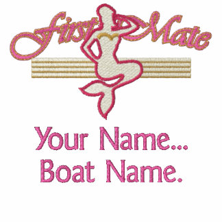 First Mate Mermaid Personalize it! Embroidered Hooded Sweatshirt