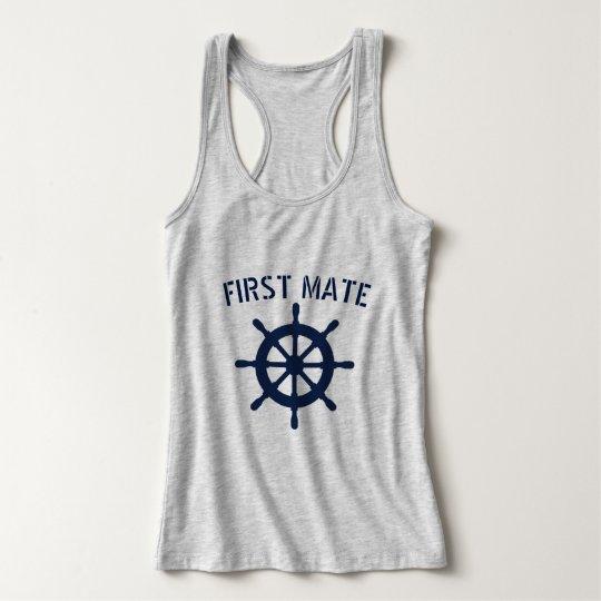 Sailing First Mate Anchor Mens Tank Top Shirt
