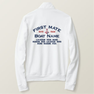 First Mate NauticalStar Anchor Easily Personalized Embroidered Jacket