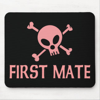 First Mate Pink Skull Mouse Pad
