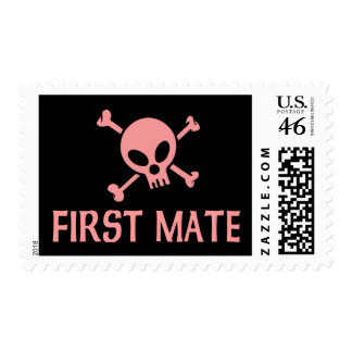 First Mate Pink Skull Stamps