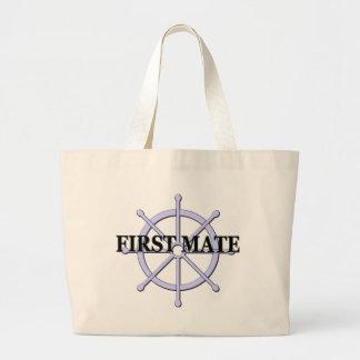 First Mate Ship Wheel Canvas Bag