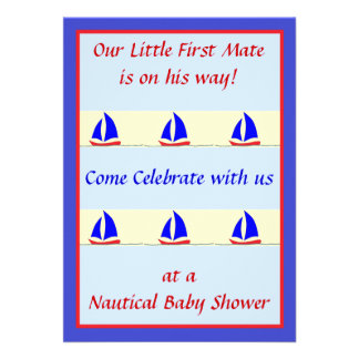 First Mate Shower Invitation