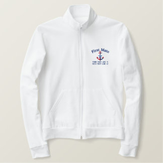 First Mate Star Your Boat Name Your Name Embroidered Jacket