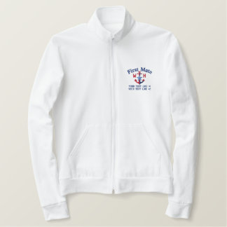 First Mate Star Your Monogram and Text Embroidered Jacket