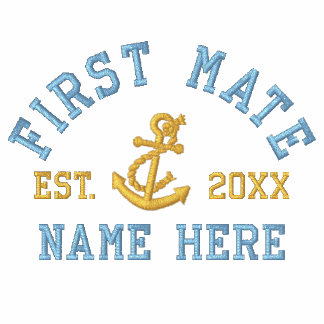 First Mate - With Anchor customizable Embroidered Polo Shirts