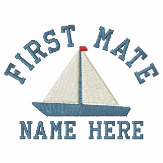 First Mate - With Yacht customizable Polo Shirt