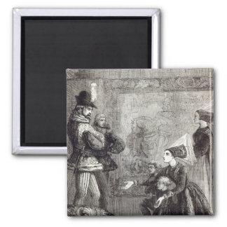 First Meeting of Edward IV and Lady Elizabeth 2 Inch Square Magnet