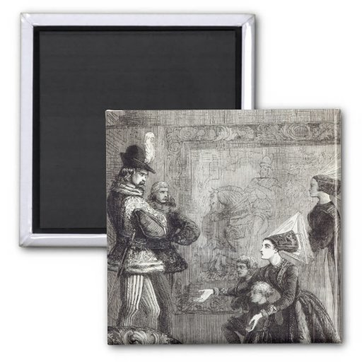 First Meeting of Edward IV and Lady Elizabeth Refrigerator Magnet