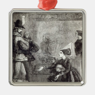 First Meeting of Edward IV and Lady Elizabeth Metal Ornament