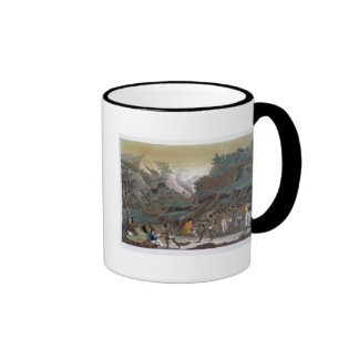 First Meeting of French Explorers with the Indigen Coffee Mugs