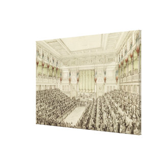 First Meeting of the National Assembly Canvas Print