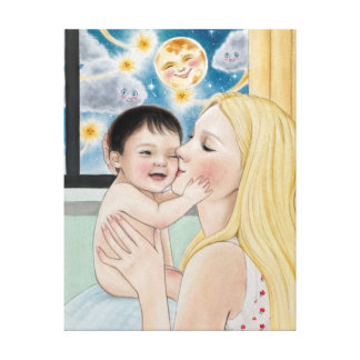 First Mommy's Kiss Canvas