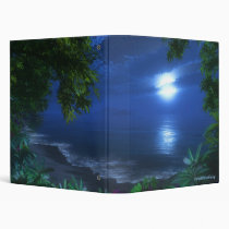 moonrise, tropical, beach, surf, night, digital blasphemy, digital art, Fichário com design gráfico personalizado