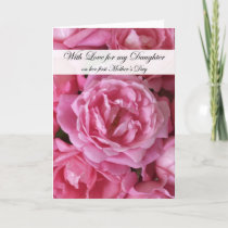 First Mothers Day Card for Daughter - Roses