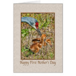 First Mother's Day Card with Birds