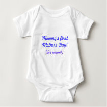 First Mother's Day Gift - Baby Keepsake for Mom Baby Bodysuit