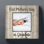 """First  Mother's Day Grandma Custom Photo Plaque<br><div class=""""desc"""">A personalized keepsake to celebrate grandma on mother's day featuring your favorite photo</div>"""