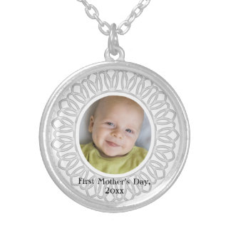 First Mother's Day Keepsake Photo Necklace