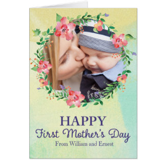 First Mother's Day Photo Greeting Card
