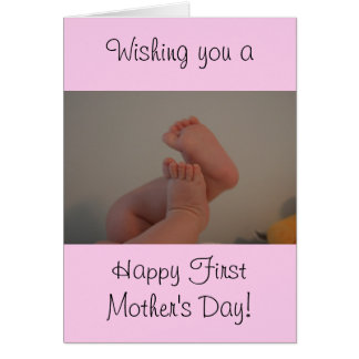 First Mother's Day with Message Baby Girl Card