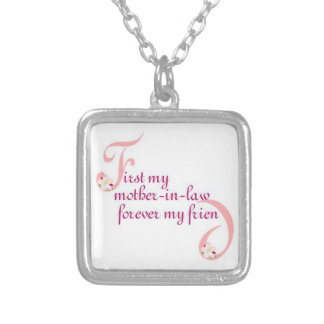 First My Mother-in-law© Forever My Friend Silver Plated Necklace