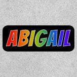 "[ Thumbnail: First Name ""Abigail"" ~ Fun Rainbow Coloring ]"