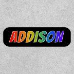 "[ Thumbnail: First Name ""Addison"" ~ Fun Rainbow Coloring ]"
