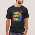 "[ Thumbnail: First Name ""Adrian"", Fun ""Happy Birthday"" T-Shirt ]"