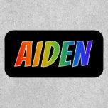 "[ Thumbnail: First Name ""Aiden"" ~ Fun Rainbow Coloring ]"