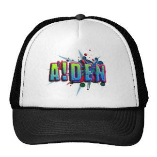 First name Aiden with as i Baseballmütze
