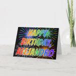 "[ Thumbnail: First Name ""Alejandro"" Fun ""Happy Birthday"" Card ]"