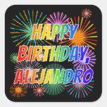 "[ Thumbnail: First Name ""Alejandro"", Fun ""Happy Birthday"" Sticker ]"